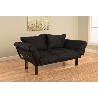 Somette Eli Spacely Black Suede Daybed Lounger