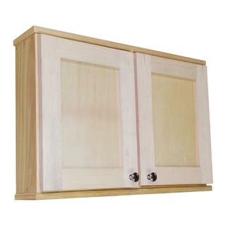 WG Wood Products Shawnee Series Solid Maple 18-inch 7.25-inch Interior Depth Double-door Wall Cabinet