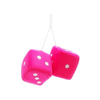 Zone Tech Pink Decorative Hanging Dice