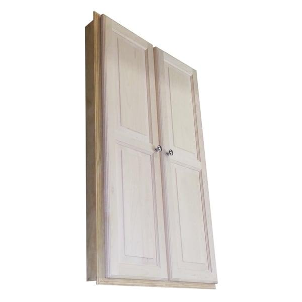 WG Wood Products Barcelona 48-inch Recessed Double Door Medicine Storage Cabinet