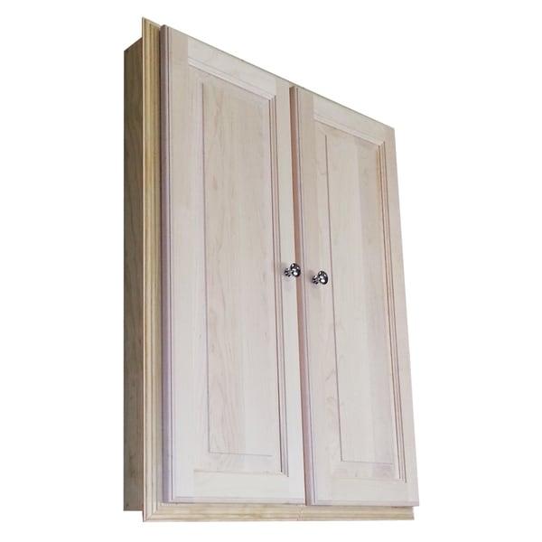 WG Wood Products Barelona 36-inch Recessed Double-door Medicine Storage Cabinet