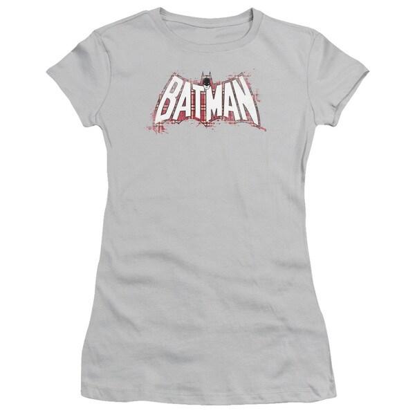 Batman/Plaid Splat Logo Junior Sheer in Silver