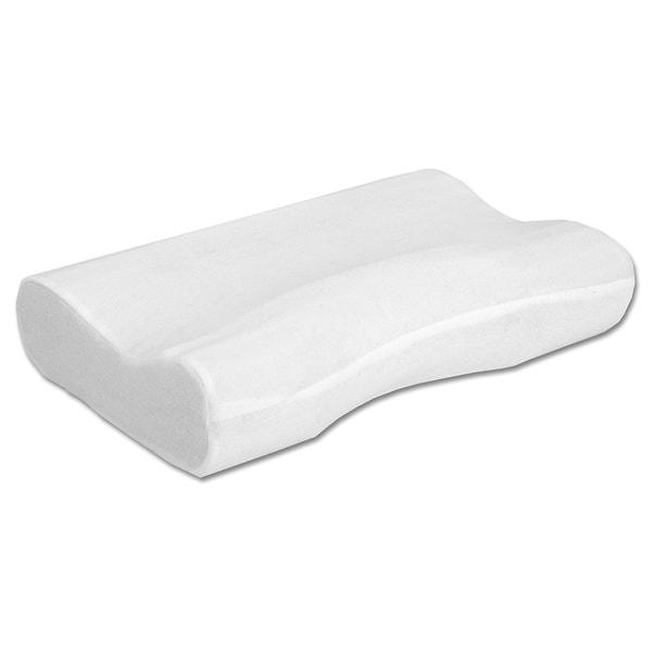 Hermell Products Softeze White Polyurethane Standard Foam Pillow