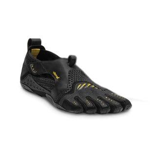 Vibram Men's Fivefingers Signa 13M0201 Black/Yellow Polyester Mesh Rubber Sneakers