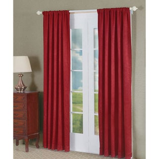 Serenta Madison Red Polyester Crush 2-piece Curtain Panel Pair