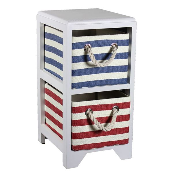 Entrada Quirky Paulownina Multicolor MDF 2-drawer Bin Storage