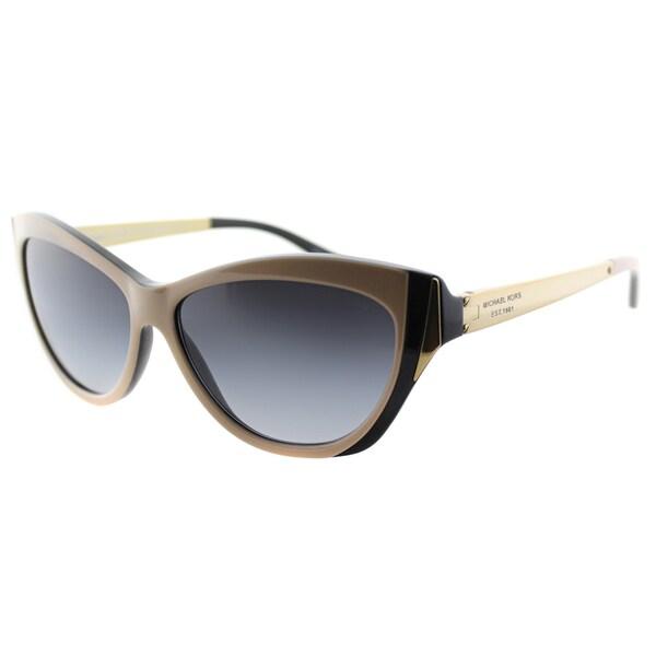 Michael Kors Women's Caneel MK 2005 303511 Taupe/Black Plastic Cat Eye Sunglasses