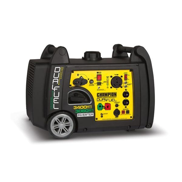 Champion Power Equipment 3,400-watt Dual Fuel Push-Button Electric Start Portable Inverter Generator With Parallel Capability
