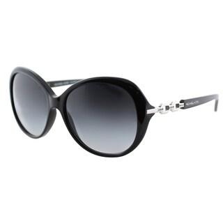 Michael Kors Women's Andorra MK 2008B 300511 Black Plastic Oval Sunglasses