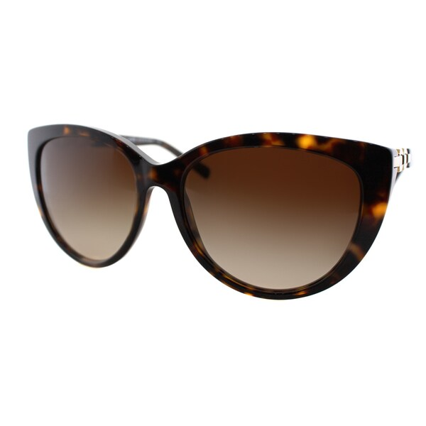 Michael Kors Women's Gstaad Tortoise Brown Plastic Cat Eye Sunglasses