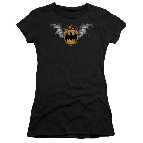 Batman/Bat Wings Logo Junior Sheer in Black