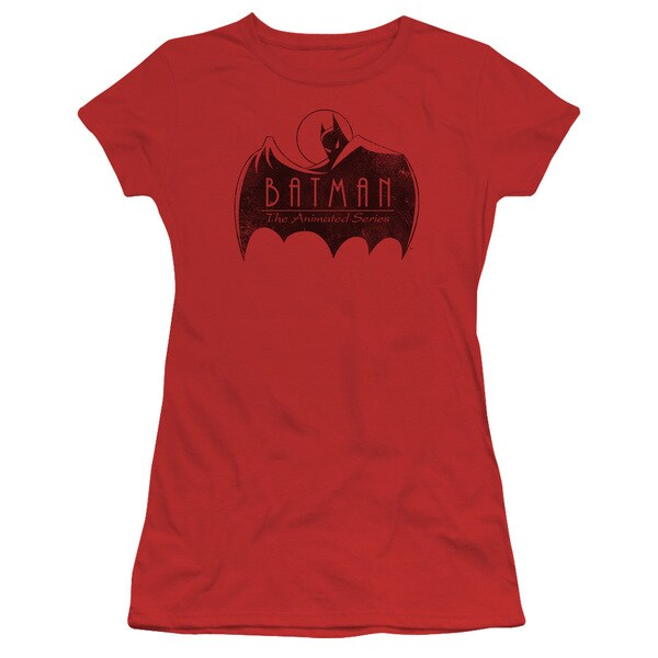 Batman The Animated Series/One Color Logo Junior Sheer in Red in Red