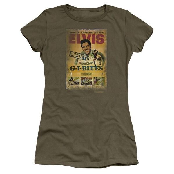 Elvis/Gi Blues Poster Junior Sheer in Military Green