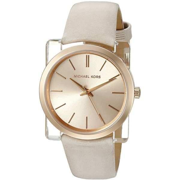 Michael Kors Women's MK2486 'Kempton' Light Brown Leather Watch