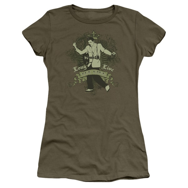 Elvis/Long Live The King Junior Sheer in Military Green
