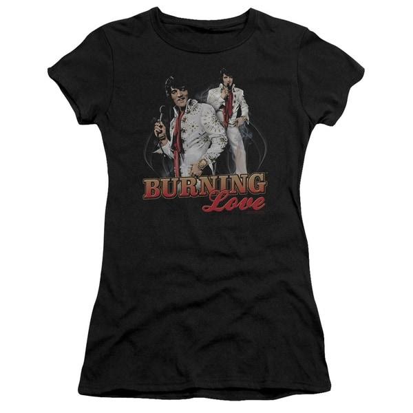 Elvis/Burning Love Junior Sheer in Black