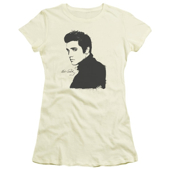 Elvis/Black Paint Junior Sheer in Cream