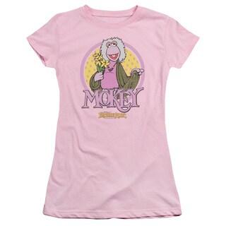 Fraggle Rock/Mokey Circle Junior Sheer in Pink in Pink