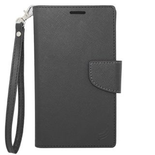 Insten Black Leather Case Cover For Alcatel One Touch Elevate/ Pixi 3(4.5) BlackBerry Z10 HTC Desire 520 Windows Phone 8X One S