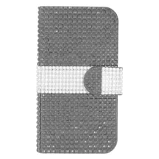 Insten Black/ Silver Leather Rhinestone Bling Case Cover with Wallet Flap Pouch For ZTE Speed