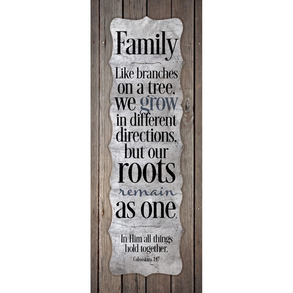 Family-Like Branches On A Tree...New Horizons Wood Plaque