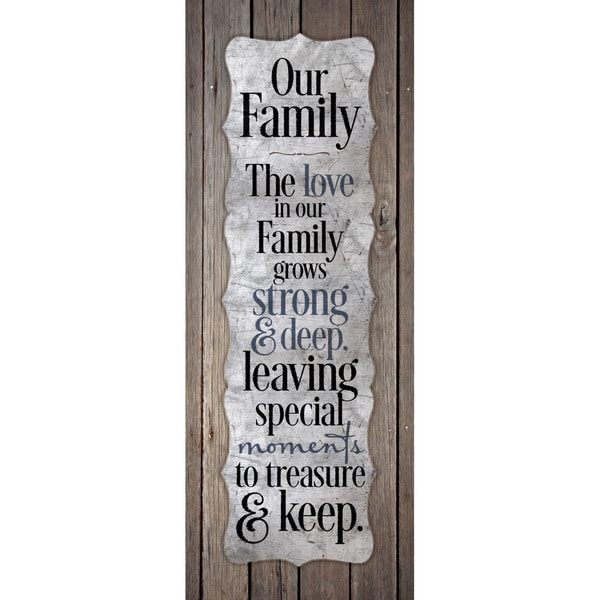"""Our Family-The Love In Our Fam..."" New Horizons Wood Plaque"