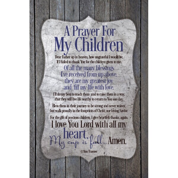 New Horizons 'A Prayer For My Children' Decorative Wood Plaque