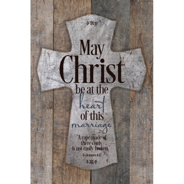 """May Christ Be At The Heart Of This Marriage..."" New Horizons Wood Plaque"
