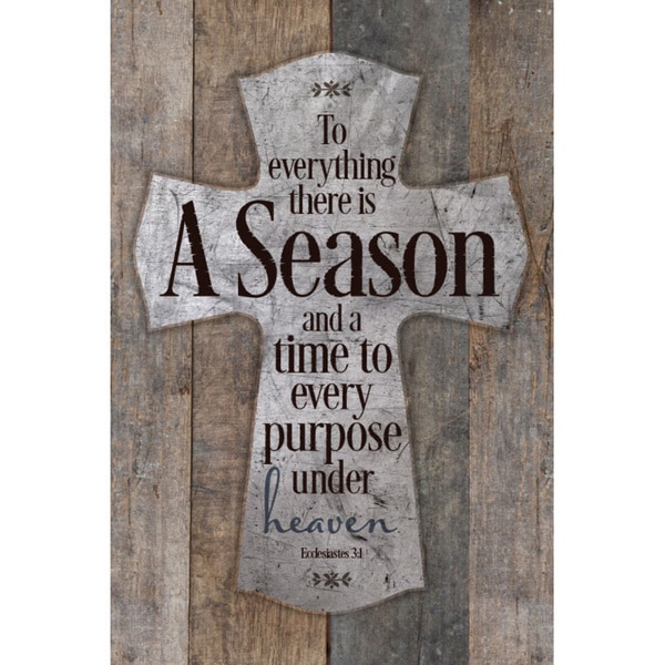 """""""To Everything There Is A Season..."""" New Horizons Wood Plaque"""