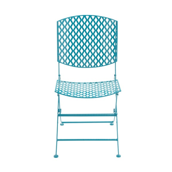 Metal blue Folding Chair
