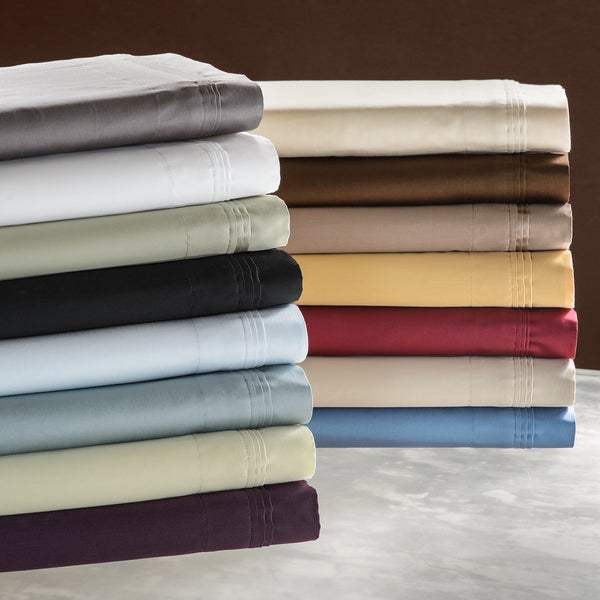 Luxor Treasures Solid Egyptian Cotton 650 Thread Count Split King Sheet Set in Black (As Is Item)