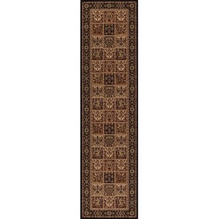 Ornamental Multi-color Polypropylene Machine-made Runner Rug (2' x 7' 7)