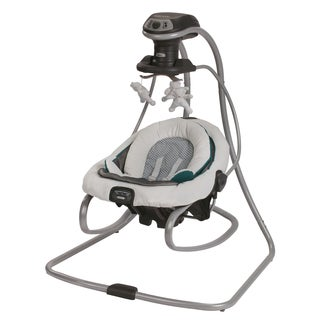 Graco DuetSoothe Green, Grey and White Plastic Swing and Rocker