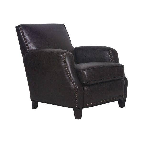 San Lorenzo Espresso Black Faux Leather/Pine/Foam Club Chair