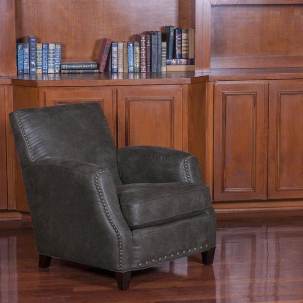 Palance Charcol Grey Club Chair