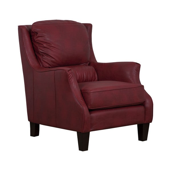 San Lorenzo Red Faux Leather Club Chair