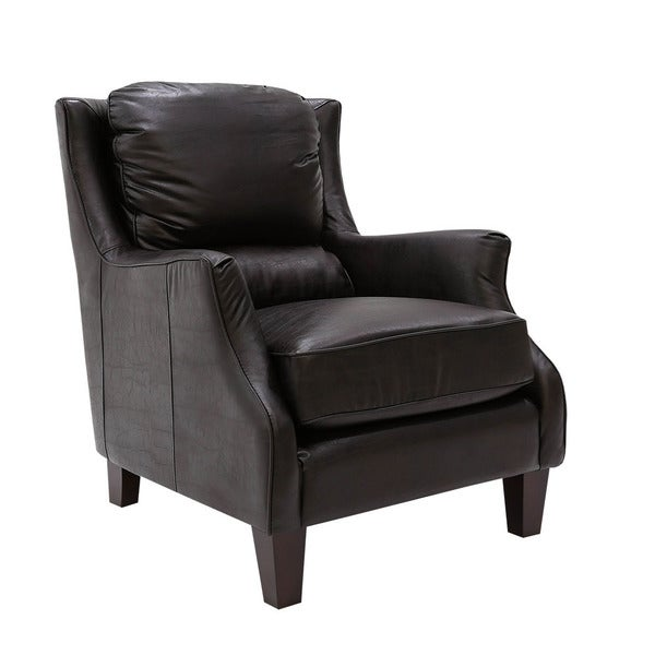 San Lorenzo Espresso Faux Leather Club Chair