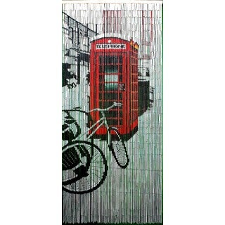 Retro Red Phone Booth Curtain (Vietnam)