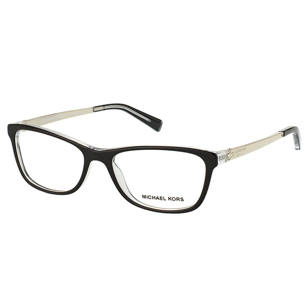 Michael Kors Nevis Womens MK 4017 3033 Black On Crystal Rectangle Plastic 55mm Eyeglasses