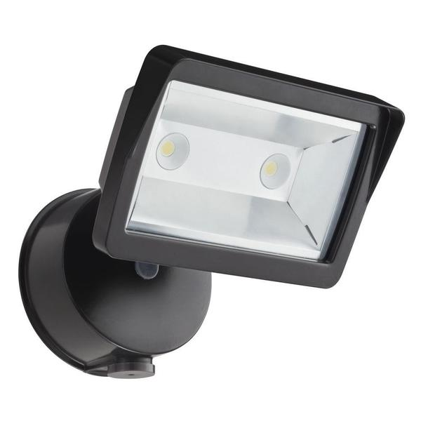 Lithonia Lighting OLFL 14 PE BZ M4 Security LED Black Bronze Dusk-to-Dawn Floodlight