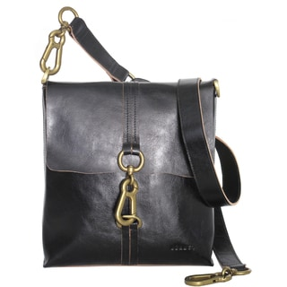 Joanel Favorites Leather Clip Closure Crossbody Handbag