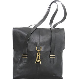 Joanel Favorites Leather Clip Closure Tote Bag