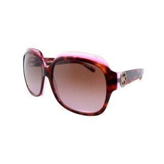 Michael Kors Women's Crete Tortoiseshell Plastic Square Sunglasses