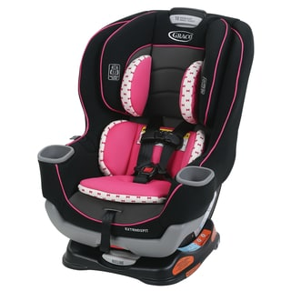 Graco Extend2Fit White/Black/Pink Plastic Convertible Car Seat