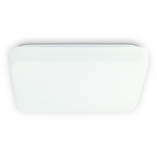 Eglo Giron White French Plastic Glass 10.5-watt LED Square Ceiling Light