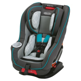Graco Size4Me 65 Blue/Black/Grey Plastic Finch Convertible Car Seat With Rapid Remove