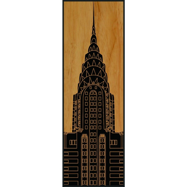 Benjamin Parker 'Chrysler Building' Wood Relief Wall Art