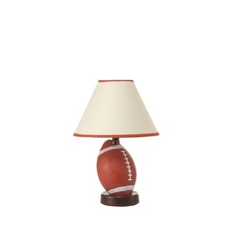 Brown Ceramic Football Table Lamp (2 Lamps Per Box)