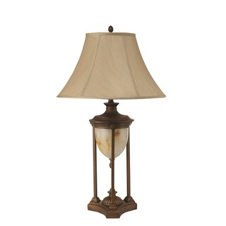 Transitional Brass and Linen Table Lamp (2 Lamps Per Box)