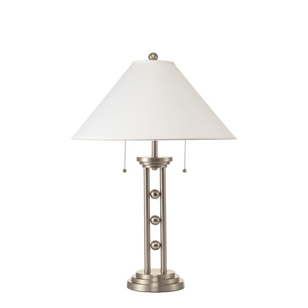 Satin Nickel Finish Table Lamp (2 Lamps Per Box)